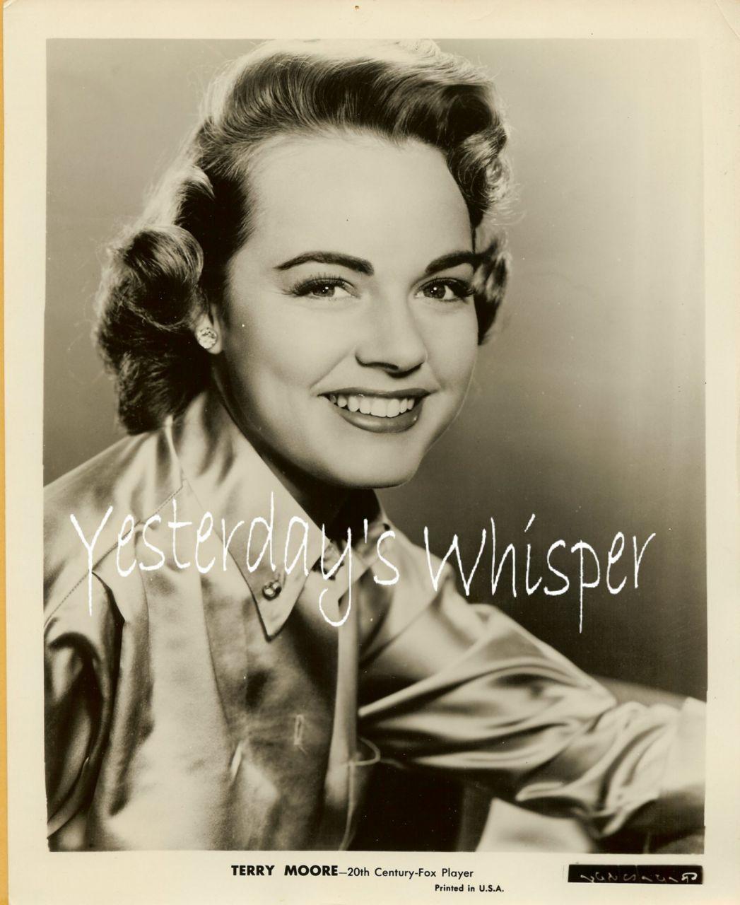 1950s 20th Century Fox Player Promo Photo Terry Moore K276