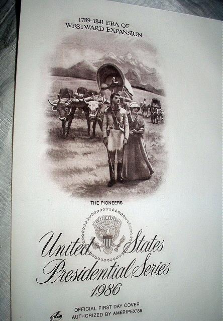 FDC US PRESIDENTIAL SERIES-PART I,PIONEERS Westward Expansio