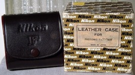 Nikon Photomic Finder Leather Case for Photomic T,Tn & FTn-NOS Boxed - $69.00