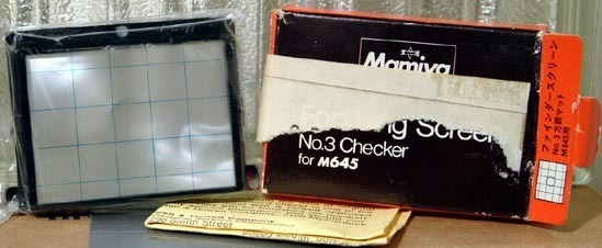 Mamiya M645 SLR Number 3 'Checker' Screen in Box - New Old Stock