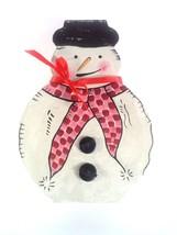 Snowman Christmas Gift Box White - $6.82