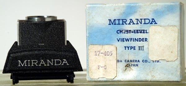 Miranda SLR Viewfinder VFE-3 Critical Magnifying Eye Level 5X-15X