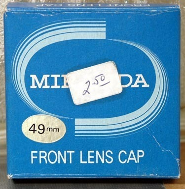 Miranda 49mm Black Snap-On Front Lens Cap in Factory Box-NOS-Japan