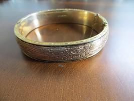 Antique Victorian/Art Deco 1/20 10K Gold Filled Hinged Ornate Bangle Bracelet - $39.99