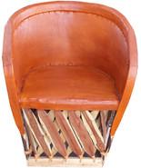 "Mexican Equipal Armchair ""San Francisco"" - $550.00"