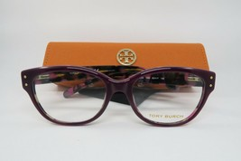 New Authentic Tory Burch TY 2040 1289 Purple Marble Eyeglasses 52mm w/ Case - $74.20