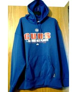 """Majestic Therma Base """"CHICAGO CUBS"""" 2008 MLB Playoffs collection Hoodie ... - $14.84"""