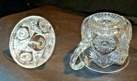 Glass Candy Dishes AB 366 Pair of Vintage Cut Glass image 3