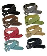 "Unisex Suede Leather Belt Strap 1 1/2"" Wide Multi-Color Options - $14.95"