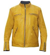 Dirk Gently Holistic Detective Agency Samuel Barnett Yellow Biker Leather Jacket image 1