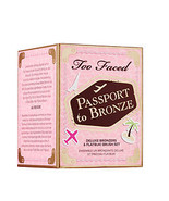 Too Faced Passport to Bronze 3 Delux Bronzer & Flatbuki Brush Set.Limite... - $26.00