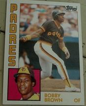 Bobby Brown, Padres,  1984  #261 Topps Baseball Card GD COND - $0.99