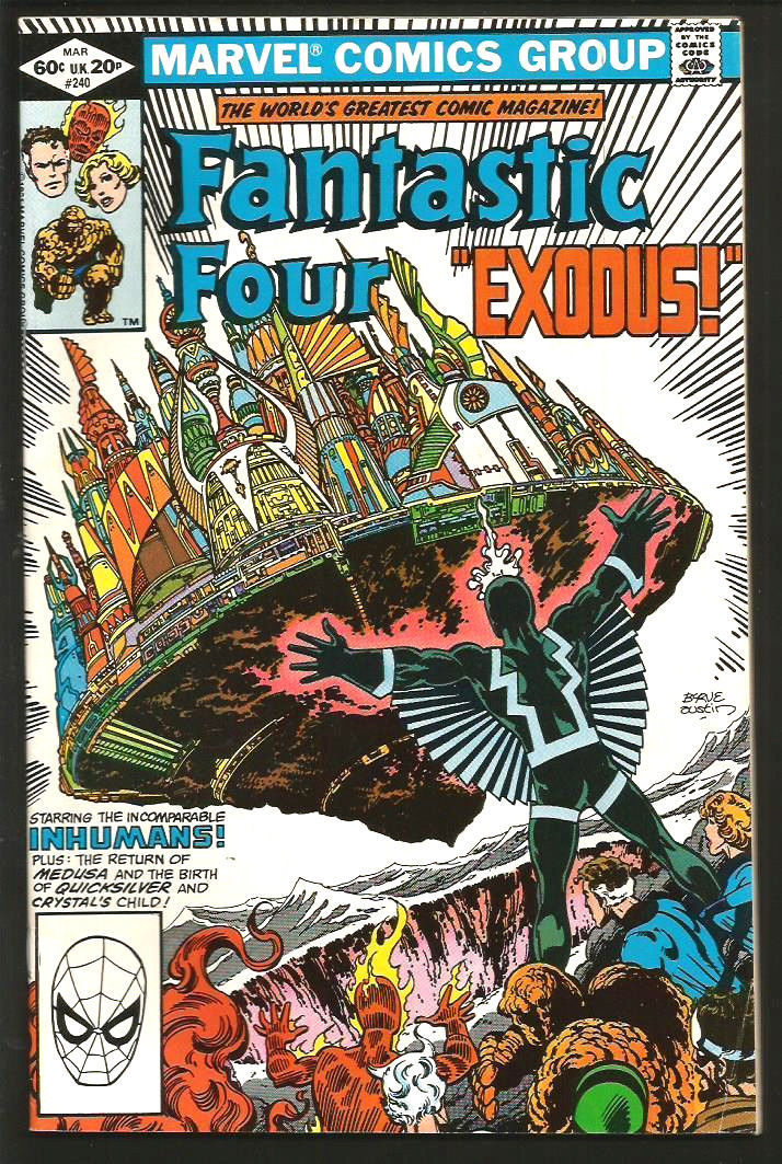 Fantastic Four #240 BYRNE / AUSTIN  VF/VF+ Marvel Comics  1991 INHUMANS