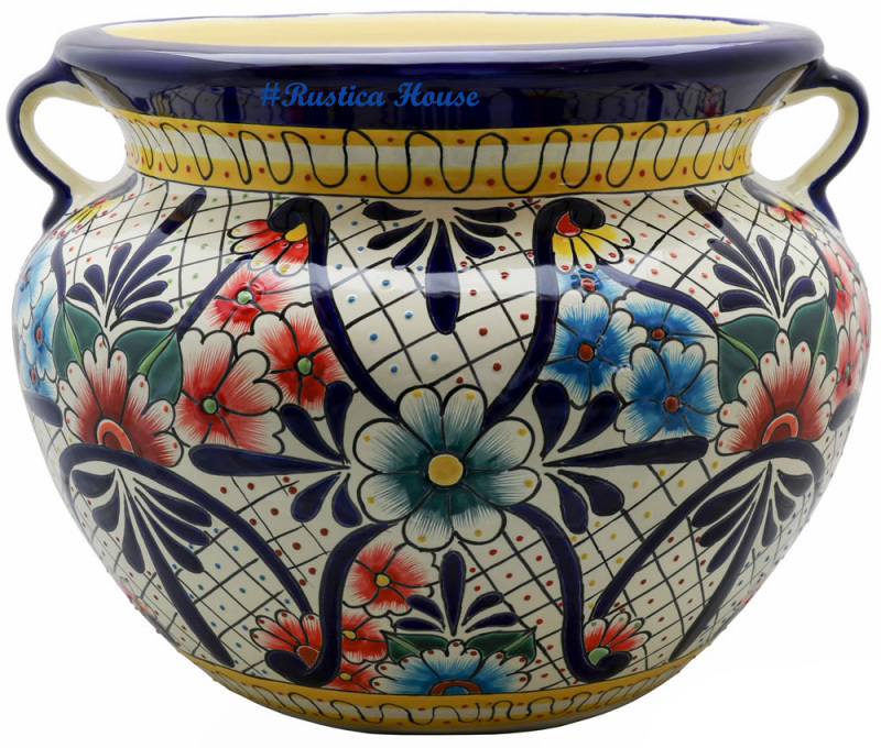 90303 ceramic talavera mexican hand painted planters 1 size1
