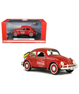 1966 Volkswagen Beetle Coca-Cola with Rear Luggage Rack and Two Bottle C... - $48.61