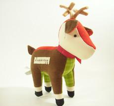 Starbucks Reindeer Christmas Plush Stuffed Animal Deer 2008 Brown Plaid Antlers - $9.41