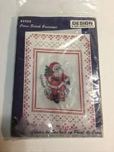 Design Works CHRISTMAS Cross Stitch Greetings Kit sealed Santa Card 5569 - $8.56