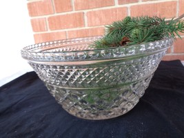 Anchor Hocking 5in Tall Press Glass Bowl  10in ... - $15.50
