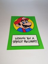 "Vintage Super Mario Brothers Greeting Card Nintendo 1989 ""Speedy Recovery"" - $9.99"