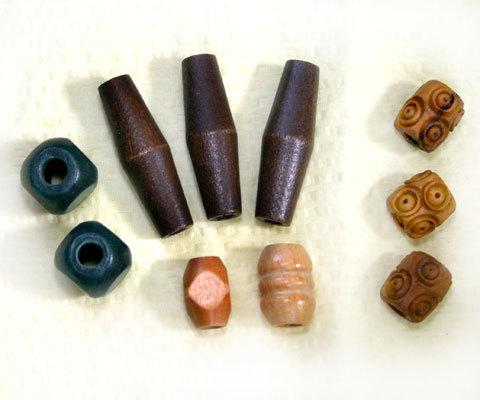 Beads asst brown green