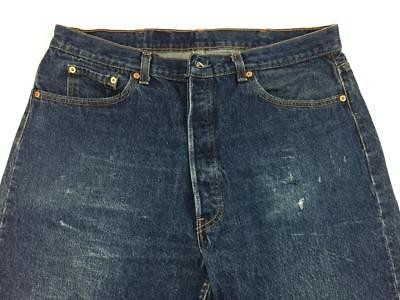 48cda833e64 Levis 501xx vintage button fly jeans mens 35x28 actual size made in USA