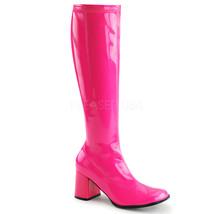 "FUNTASMA Gogo-300UV Series 3"" Heel Knee-High Boots - Neon Hot Pink Str P... - $44.95"