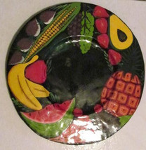 Vintage Handmade Tin/Metal and Hand-painted Fresh Fruit & Vegetables Tra... - $49.95