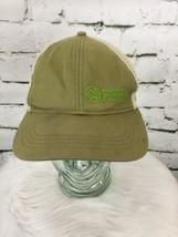 Montana Wilderness School Distressed SnapBack Hat Cap Vented Green Beige - $19.79