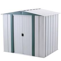 Steel Storage Shed w/ Floor Kit 6 x 5 Lockable Double Door Outdoor Garde... - $323.15