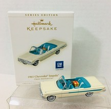 2006 Classic Am Cars #16 1961 Chevy Impala Hallmark Christmas Tree Ornam... - $24.26