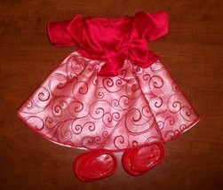 Cabbage Patch Kids Fancy Red Party  Dress & Shoes - $9.89