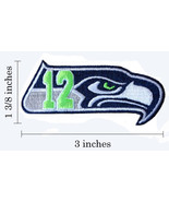 Seattle Seahawks 12th Logo Embroidered Iron On Patch. - $1.20