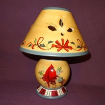 "Cardinal Candle Lamp Tea Light Holder 10"" Winter Greetings Everyday Leno... - $29.99"