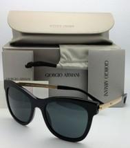 Originale Giorgio Armani Occhiali da Sole Adirise 8011 5017/87 Nero & Oro - $401.16
