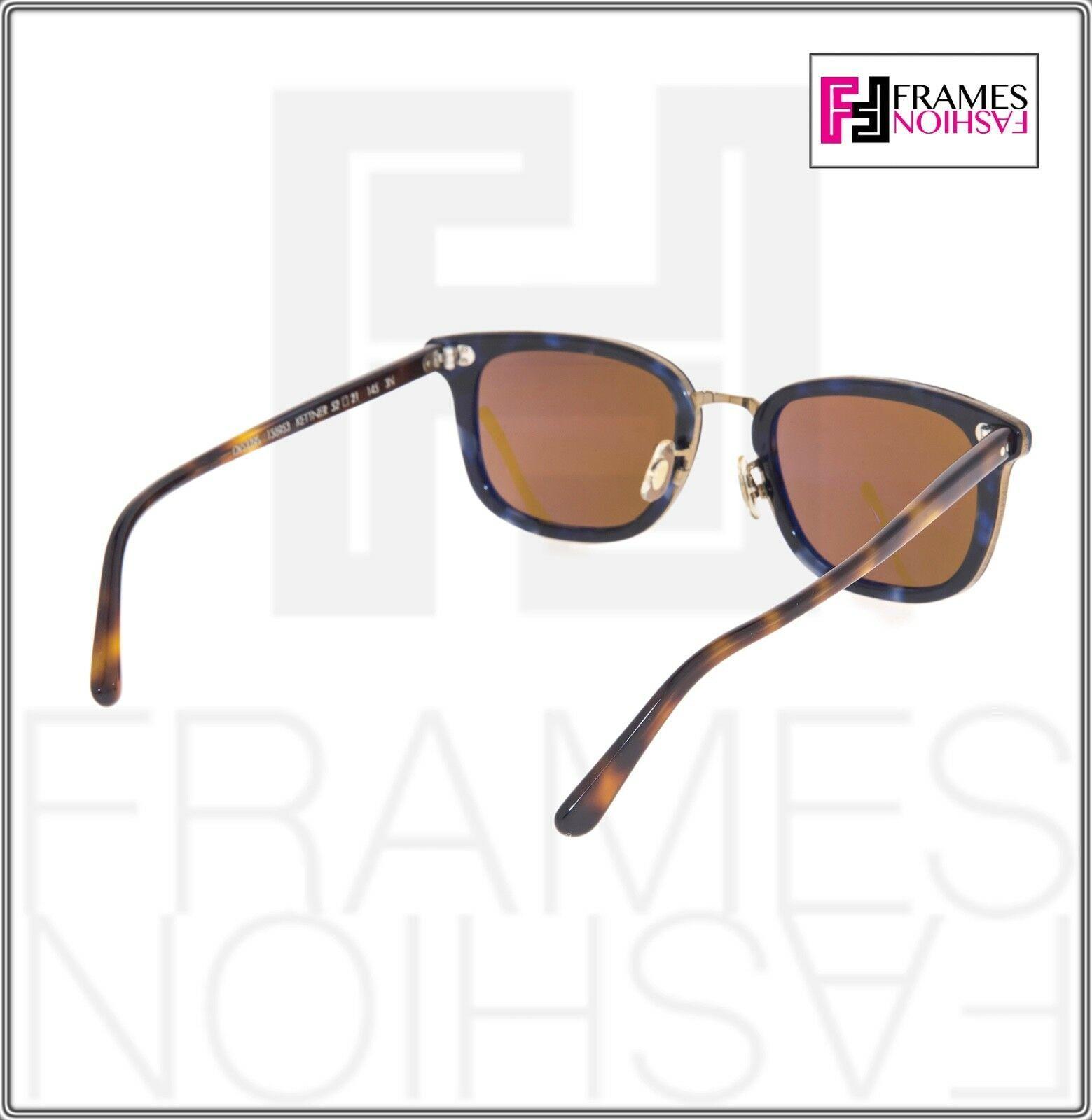 OLIVER PEOPLES KETTNER OV5339S Brown Blue Tortoise Cosmik Sunglasses 5339 image 4