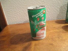 Wisconsin WI Turning 7up vintage pop soda metal can Fishing Lake Winnebago - $10.99