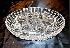 Cut Glass Serving Tray with Star Design AA18-11812 Antique Heavy image 4