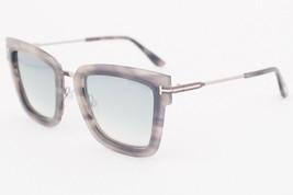 Tom Ford LARA Gray Havana / Blue Mirror Gradient Sunglasses TF573 55X LA... - $224.42