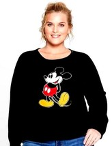 Mickey Mouse Black Sweatshirt Womens X-Large New with Tags - $14.99