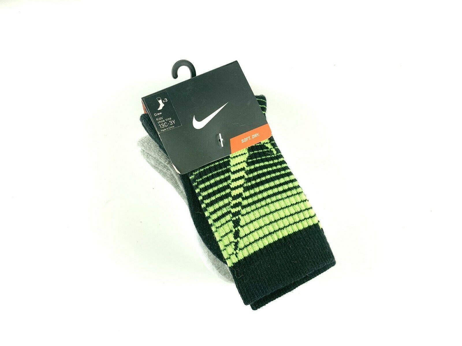 Nike Kids' Graphic Crew Socks 3 Pack 13C-3Y #295G