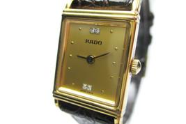 Authentic RADO 4Point Dia Plastic Band Quartz Women's Watch 179.5247.2 - $149.00