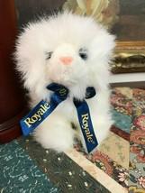 "Gund Royale Tissue Stuffed Plush Persian Cat Blue Ribbon 42588 New 7"" Tall - $86.85"