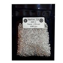Cubic Zirconia Clear CZ Round Machine Cut 2.5mm 1000 pcs Pack AA Premium - $17.42
