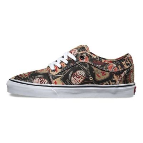 VANS Chukka Low (Labels) Black & Tan UltraCush Skate Shoes MEN'S 6.5 WOMEN'S 8