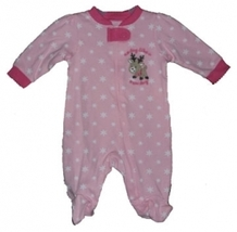 "Newborn 5.5-7.5 Pounds Girls ""No day like a snow day"" Reindeer Footed Sl... - $14.00"
