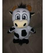 "Impact Merchandise Cow Bull Plush 14"" Moo Horns White Black Spots Barn F... - $13.85"