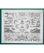 FORTIFICATIONS Design Batteries Depots Magazines - 1844 Superb Print - $9.00