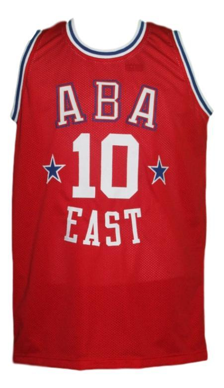 Louis dampier  10 aba east all star basketball jersey red   1