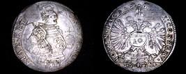 1632 Swiss Cantons CHUR 10 Kreuzer World Silver Coin - Plugged - $199.99