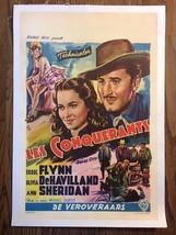 *DODGE CITY (1939) Errol Flynn & Olivia de Havilland Orig. Linen-Backed ... - $156.00